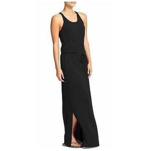 Athleta Cressida Maxi Side Slit Tank Dress, Black